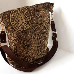 crossbody tapestry carpet bag