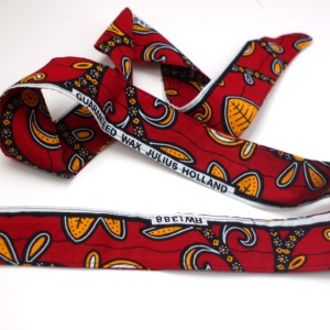 Red Paisley African Head Scarf