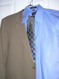 Tan Suit Blue Tie - Erieairfair