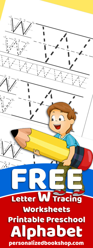 Letter W Tracing Worksheets Preschool Free Traceable Alphabet