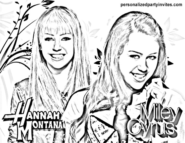 hannah montana coloring pages printable these for