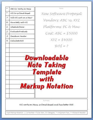 Note Taking Template Personal Success Today - meeting notes template