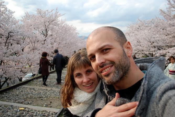 In Giappone durante la fioritura dei ciliegi