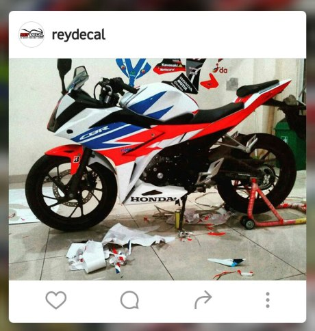 Modifikasi All New Honda CBR150R Decal Tri Colour RWB pertamax7.com 1