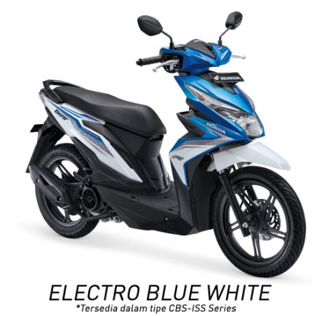 Warna All New Honda BeAT 110 eSP 2016 putih biru Electro blue white  Pertamax7.comWarna All New Honda BeAT 110 eSP 2016 putih biru Electro blue white  Pertamax7.com