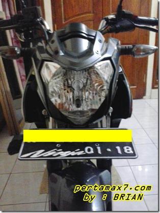 dudukan plat nomer yamaha new vixion dengan braket nopol suzuki satria f 7