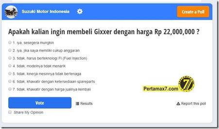polling suzuki gixxer indonesia 1