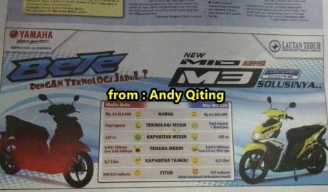 Perang urat syarat Yamaha Mio M3 sudah mulai terjadi di lampung