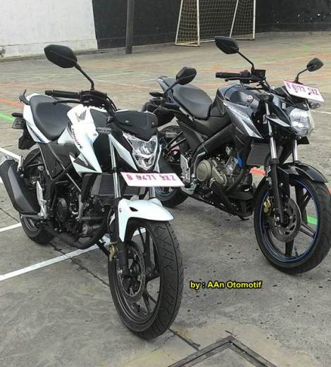 all new honda CB150R streetfire vs yamaha new vixion advance