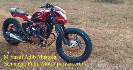 Modifikasi Honda Tiger Caferacer Mesin Boxer 400 CC Semangat Putra Motor