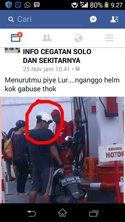 Waduh, Pake helm Kok Cuma Gabusnya pertamax7.com