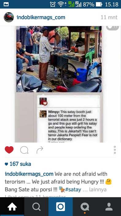 Bom Sarinah Tak Usik penjual Sate dan Kopi disekitar TKP, Laris Manis pertamax7.com 1
