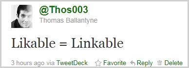 Likable = Linkable