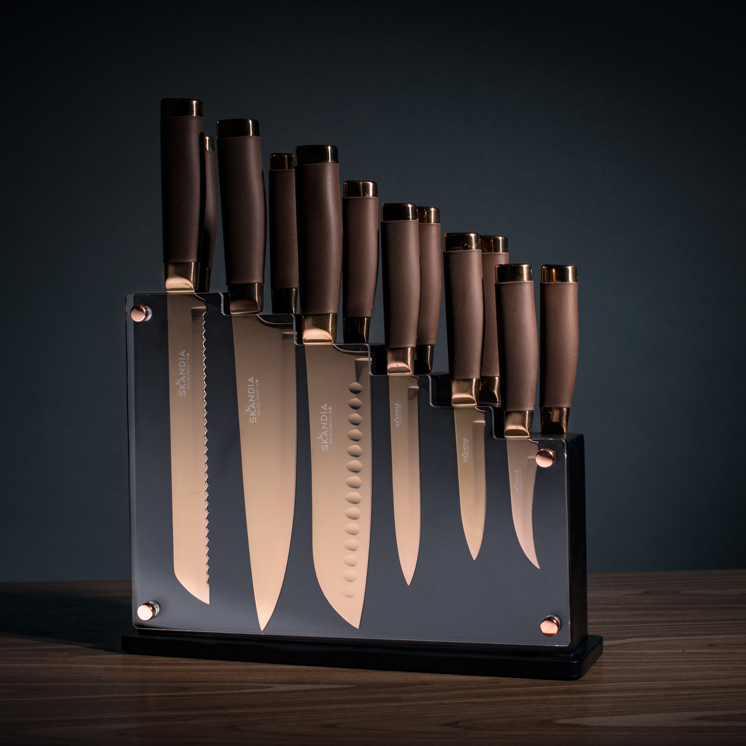 Cool Knife Block Sets Skandia Forte 13 Piece Knife Block Set Petagadget