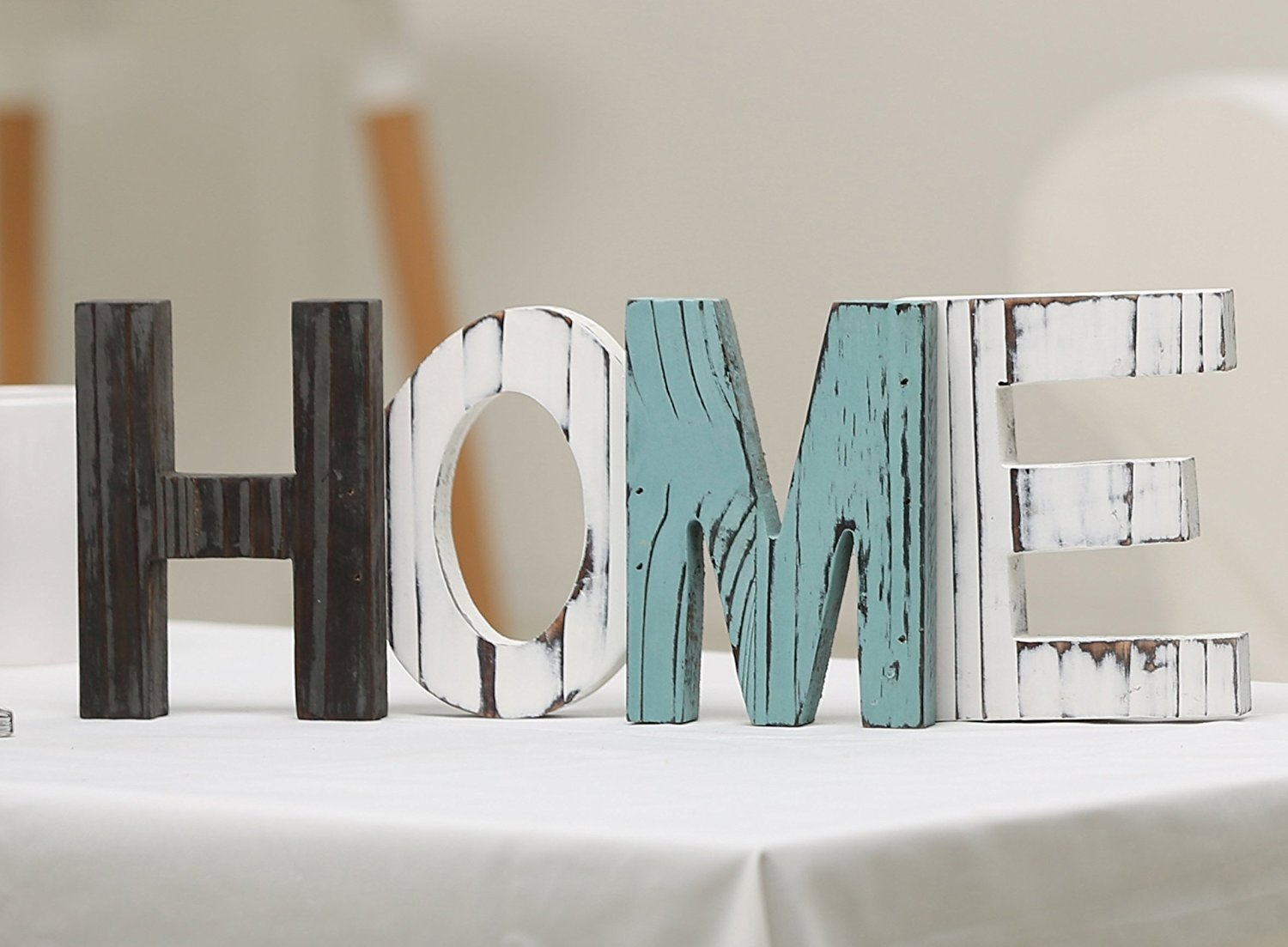 Kitchen Gadget 6 Letters Mygift Rustic Wood Home Decorative Sign Standing Cutout