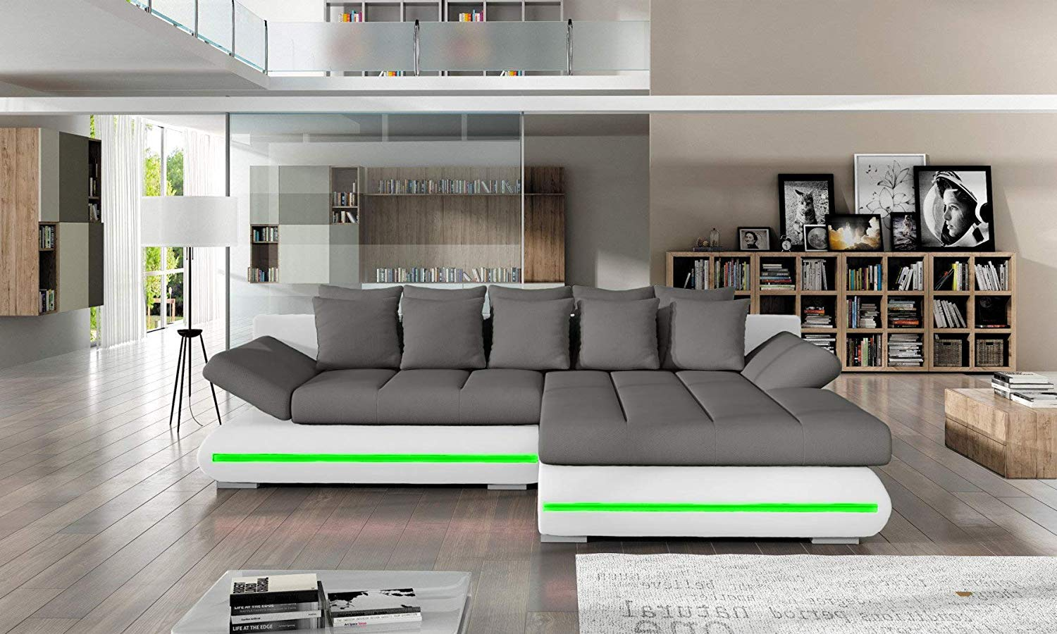 Sectional Sleeper Sofa Couch With Storage And Led Lights Petagadget