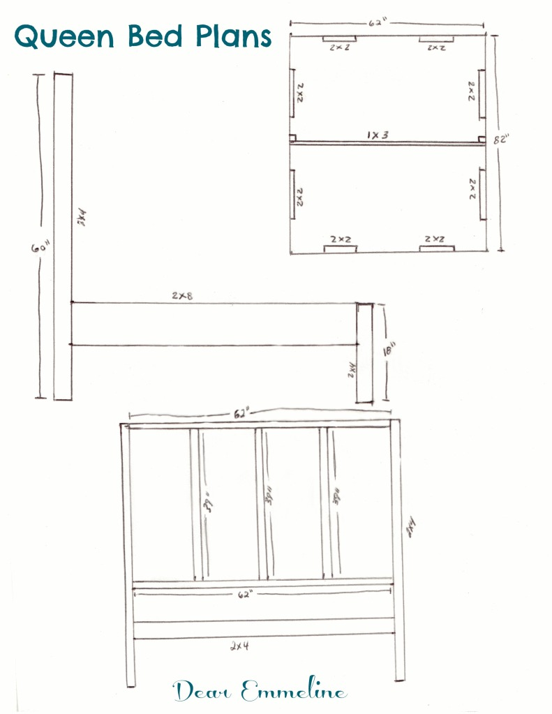 How Big Is A Queen Size Bed Uk The Building Of A Bed Queen Bed Frame Plans