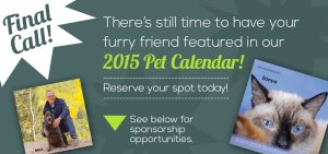 Santa Fe Animal Shelter Pet Calendar 2015