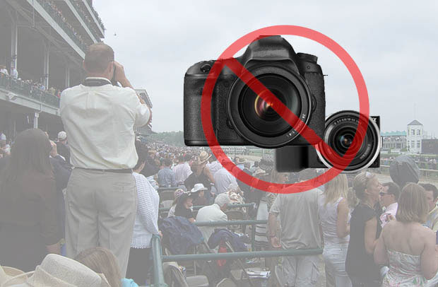 Kentucky Derby Bans All Interchangeable Lens Cameras for Security Purposes churchilldowns2