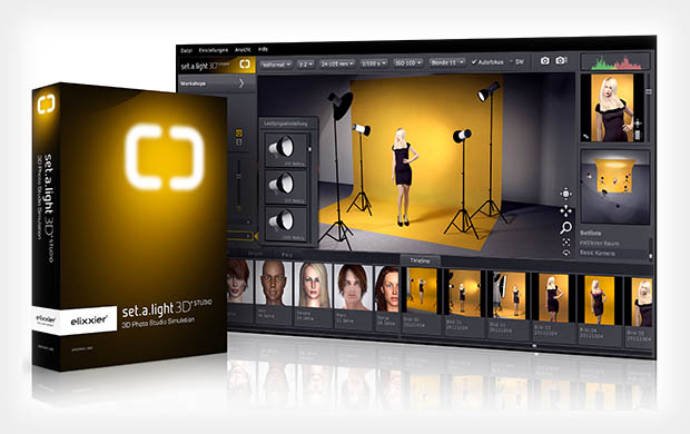 Simulate Lighting in a Virtual Photo Studio with set.a.light 3D STUDIO setalight