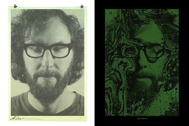 These Binary Prints by Alex Trochut Show Different Portraits in Light and Darkness binary7