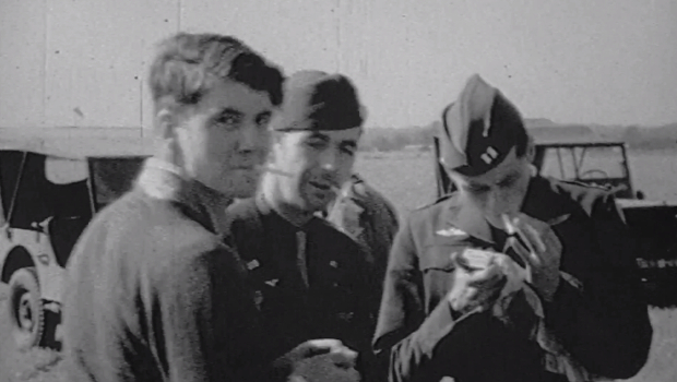 WWII Photo Reconnaissance Pilot Reacts to Footage of Himself from 1944 blyth1