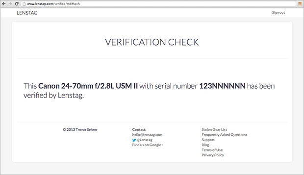 Lenstag Now Has Disposable Verification Links for Used Camera Gear Sales check