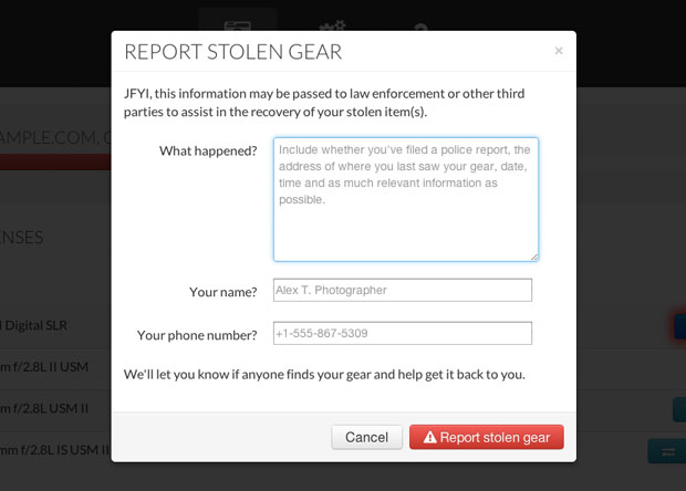 Lenstag: A Free Online Gear Registry that Aims to End Camera and Lens Theft lenstag reportstolen