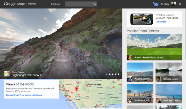 Googles New Views Site Gives Android Users a Place to Share Photo Spheres views2