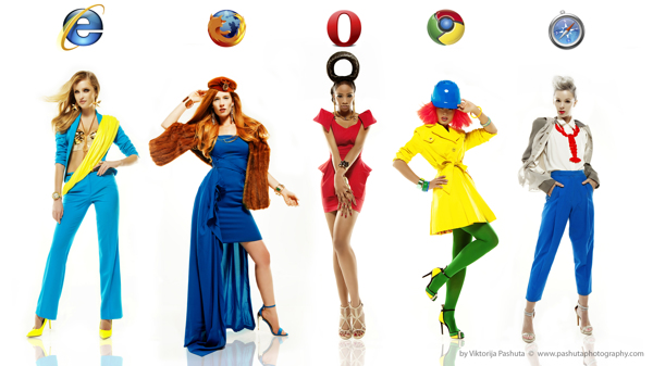 High Fashion Photos Depict Models as the Five Major Internet Browsers fashionbrowsers1