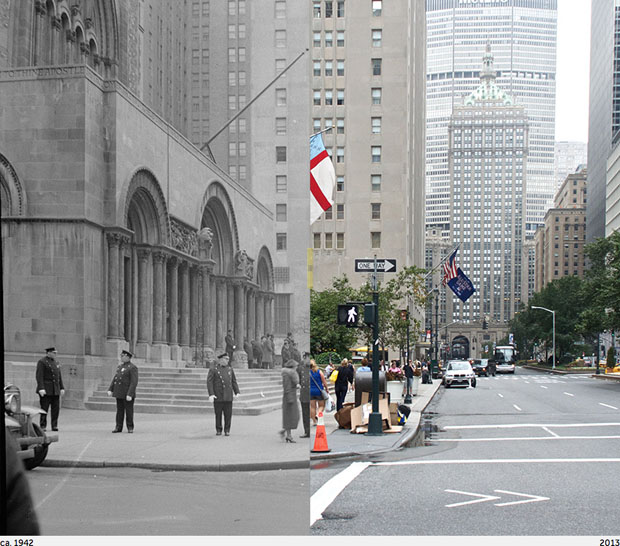 Then and Now Photos of New York City  nycbeforeafter 11