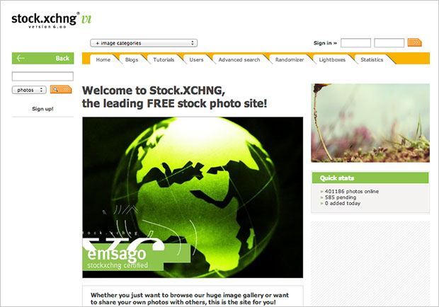 Stock Photo Service stock.xchng Down for Days, Users Left in the Dark oldfront