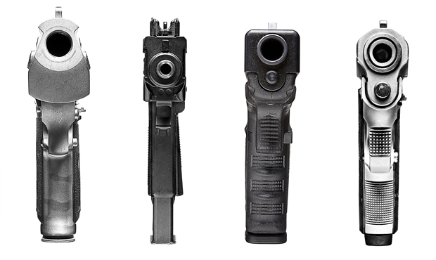 Photo Series Offers a Point Blank View of Different Guns pointblack