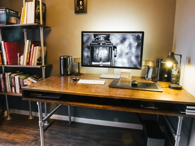 How I Built a Custom Desk and Wire