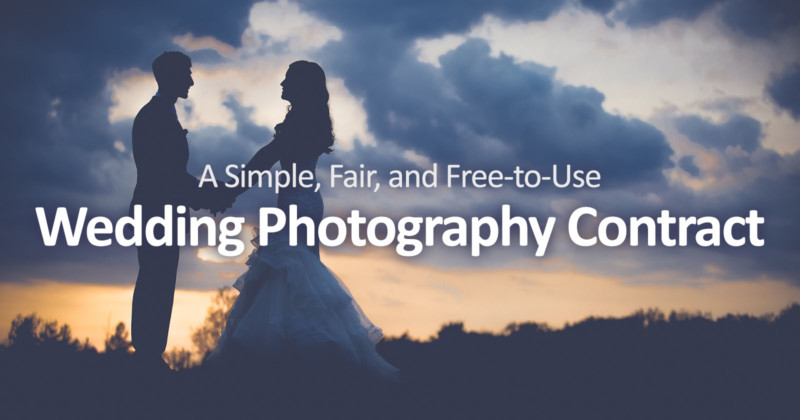 A Simple, Fair, and Free-to-Use Wedding Photography Contract