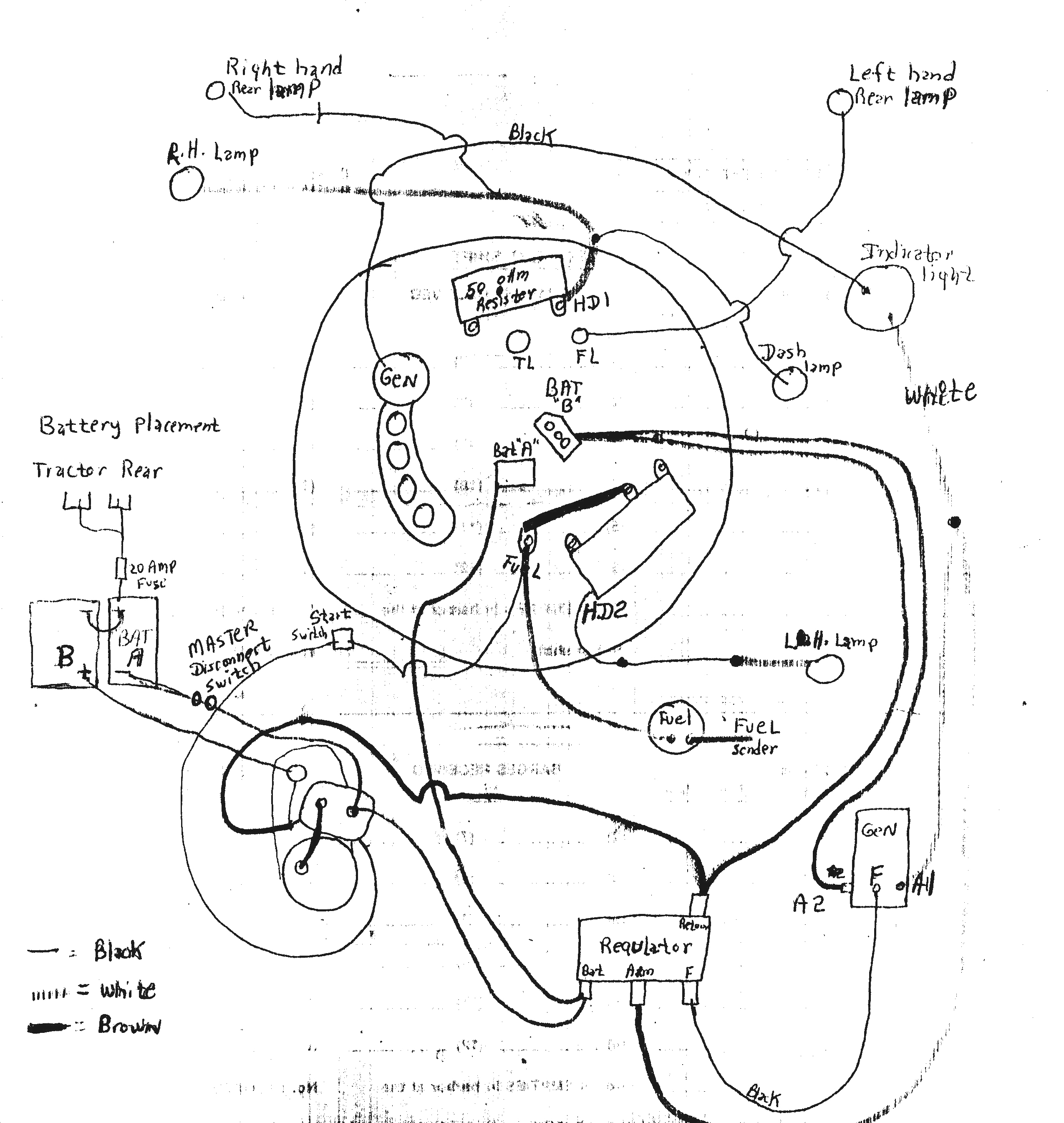 basic tractor wiring diagram