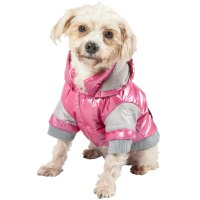Pet Life Pink Vintage Aspen Dog Ski Jacket | Petco