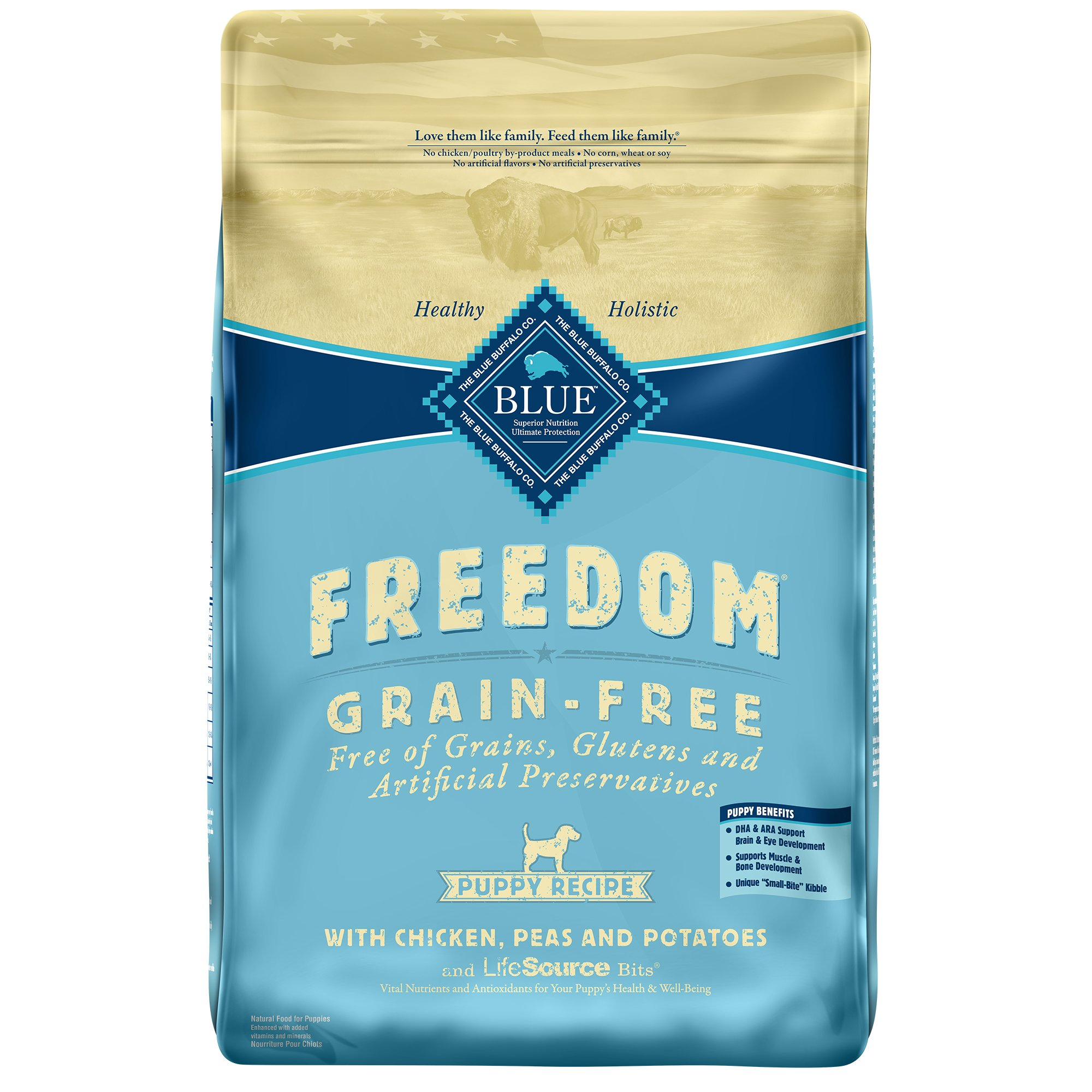 30 Liter Emmer Blue Buffalo Blue Freedom Grain Free Puppy Chicken Recipe Dry Dog Food Petco