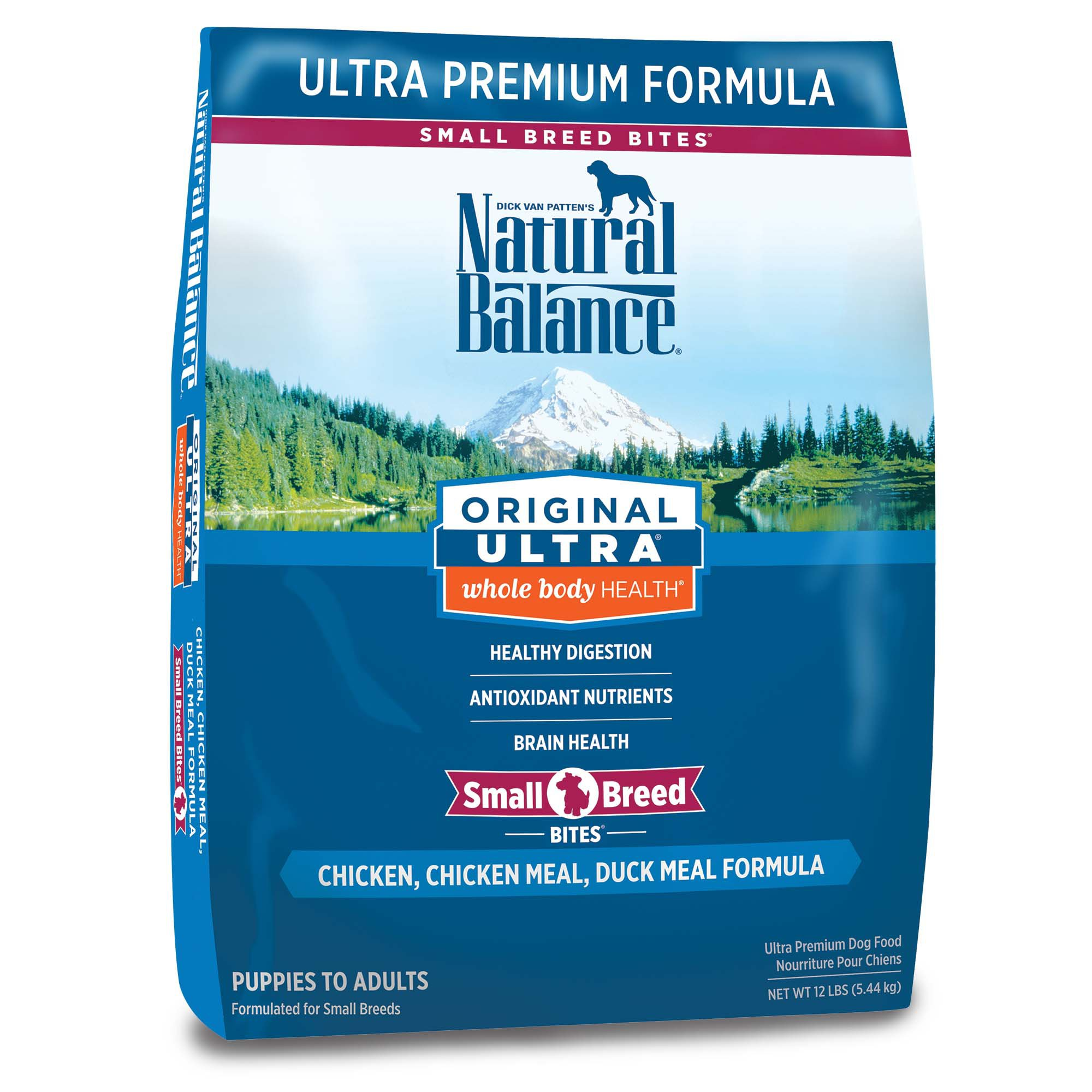 Natural Balance Small Breed Bites Original Ultra Whole Body Health Chicken, Chicken Meal, Duck ...