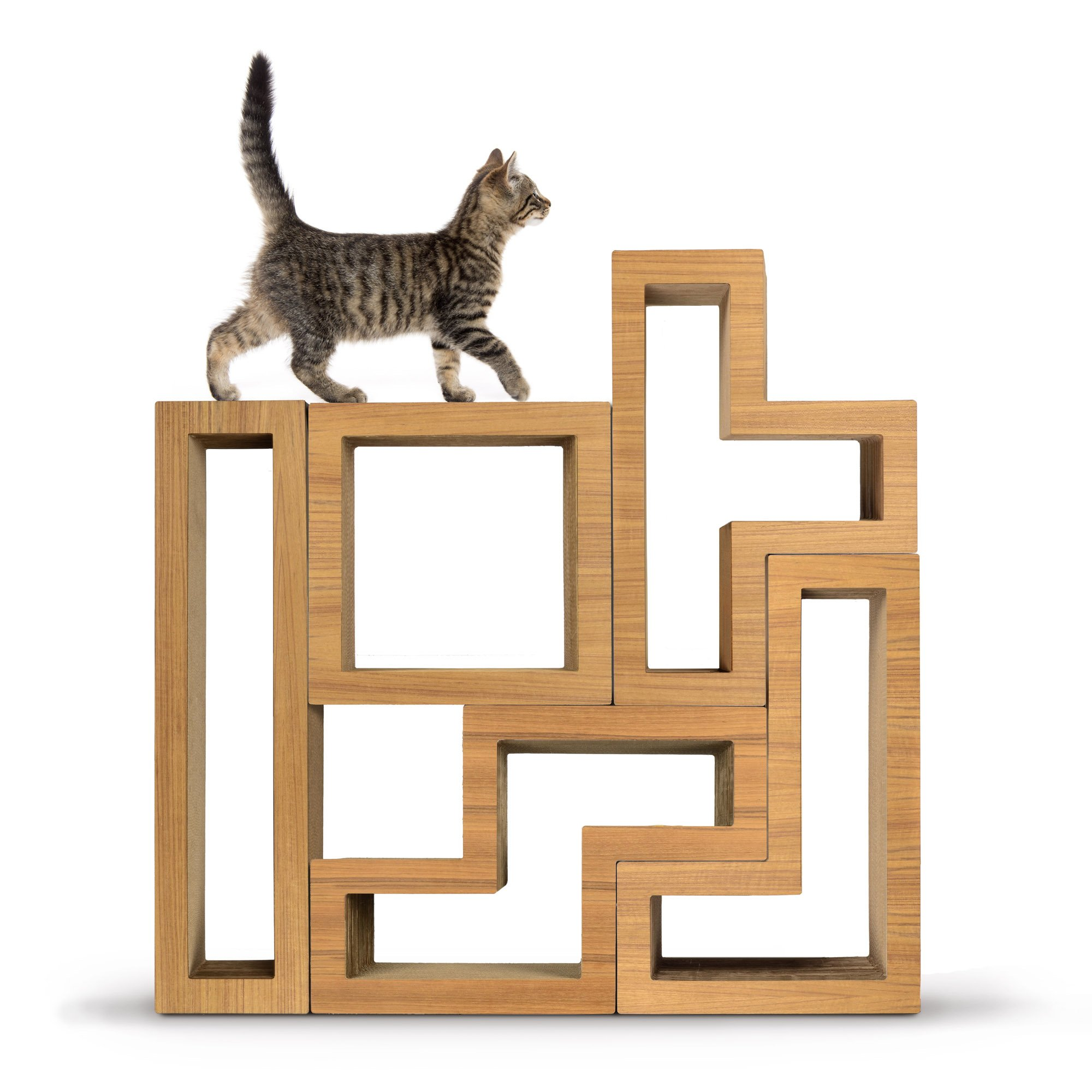 Cat Furniture For Sale Katris Modular Cat Tree Teak Wood Collection Petco