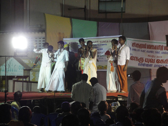 These people were from Kerala and the girl had an incredible voice!