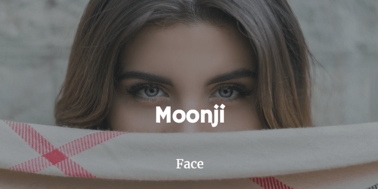 moonji tamil word for face