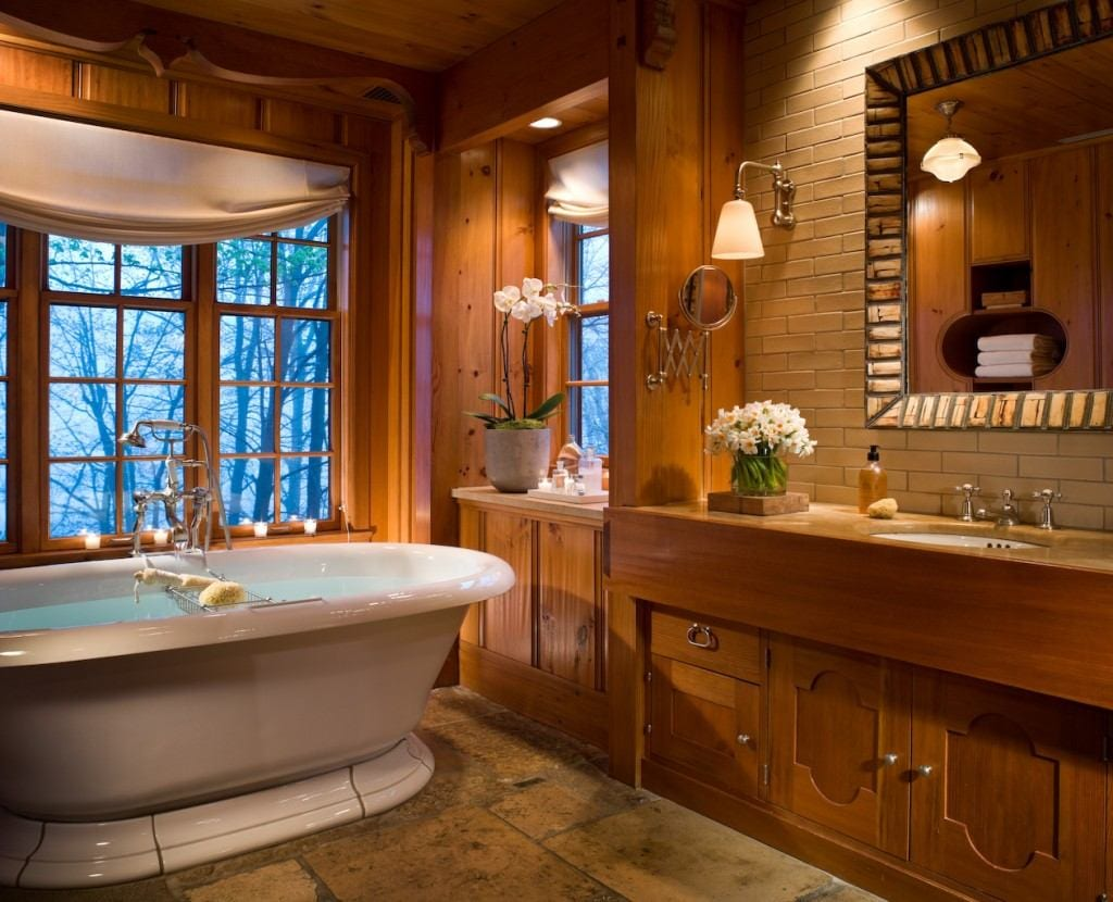 Wooden Floors Bath The Best Hotel Bathroom Amenities For Fall In New England