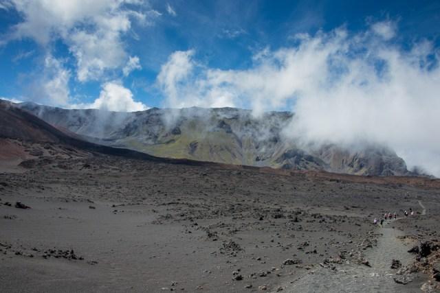 Hiking Across Haleakala Volcano