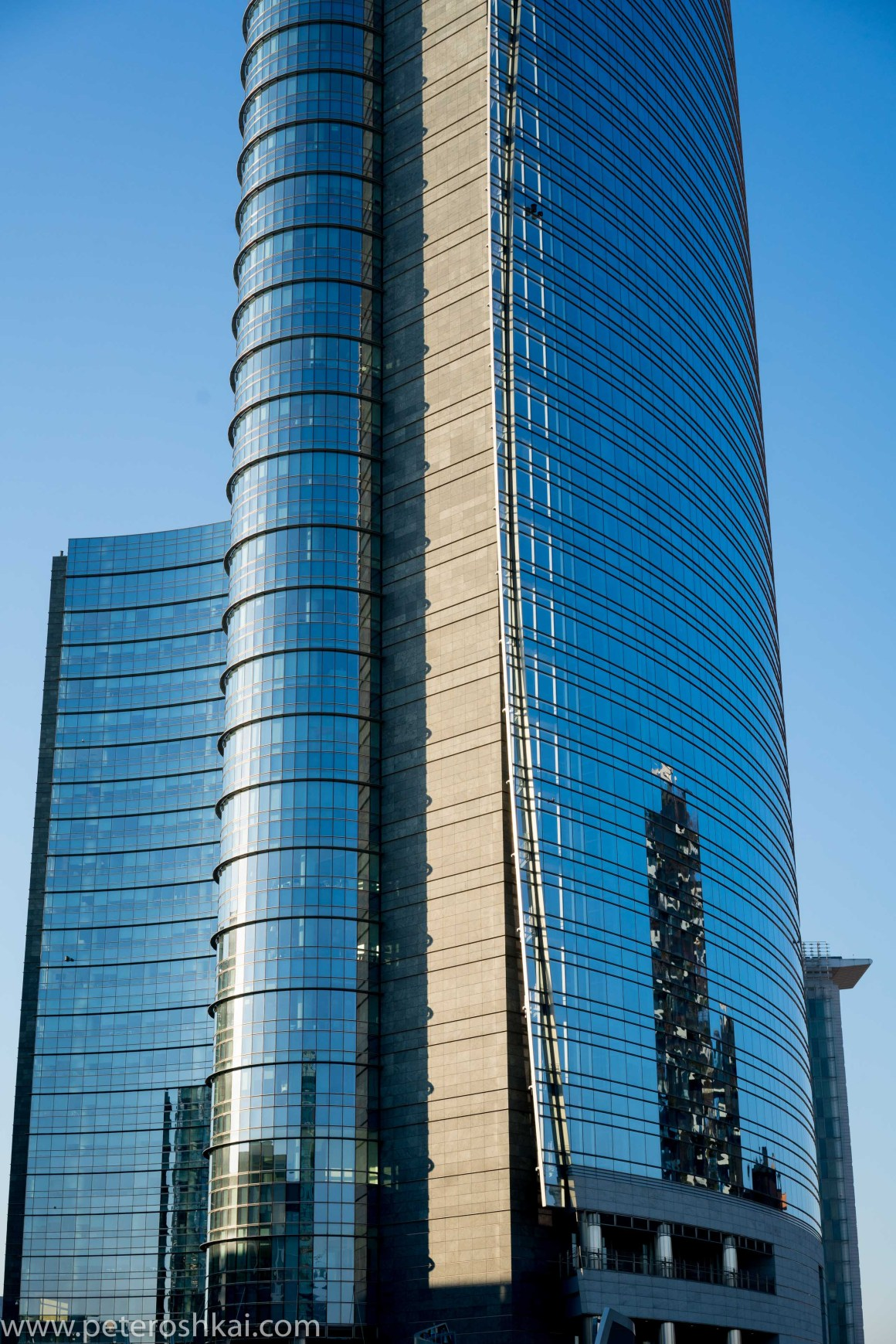 UniCredit Tower in Piazza Gae Aulenti. Milan. Italy.