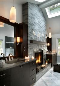 Impressive Interior Designs Modern Fireplace Tile Ideas ...