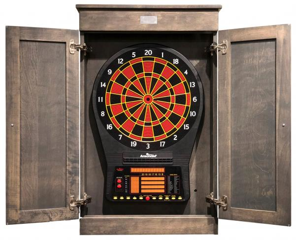 Stessless Ridgeway Dart Cabinet - Grey - Peters Billiards