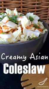 ... Creamy Asian Coleslaw with Cilantro. Coleslaw doesn't have to be