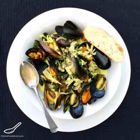 Mussels in a Creamy White Wine Sauce Recipe