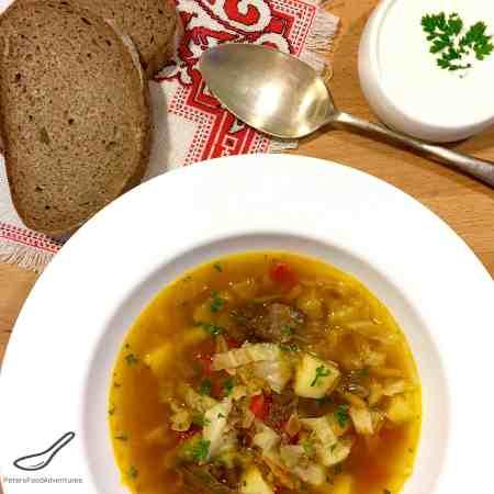 Schi - Russian Cabbage Soup (Щи)